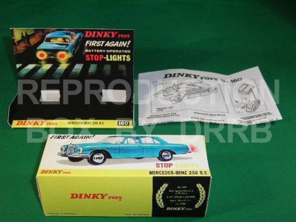 Dinky #160 Mercedes Benz 250 SE - Reproduction Box